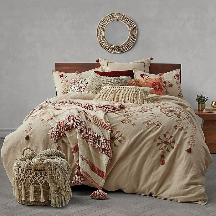 Alternate image 1 for Tassel Embroidery Duvet Cover