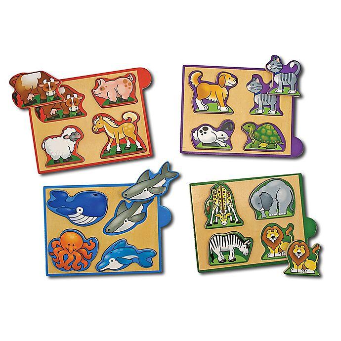 Alternate image 1 for Melissa & Doug® Animals Mini Puzzles (Set of 4)
