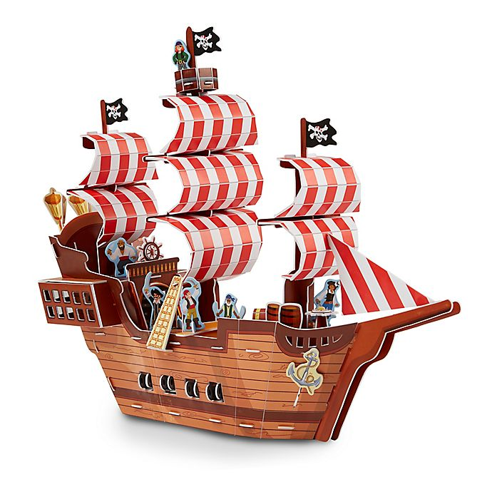 Alternate image 1 for Melissa & Doug® Pirate Ship 100-Piece 3D Puzzle Play Set