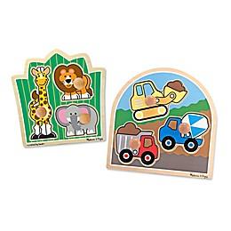 Melissa & Doug® Construction and Safari Jumbo Knob Puzzle Bundle (Set of 2)