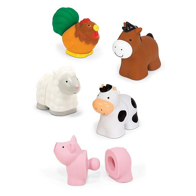 Alternate image 1 for Melissa & Doug® 10-Piece Pop Bloc Farm Animals 3D Puzzle