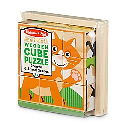 Melissa & Doug® 9-Piece My First Wooden Cube Puzzle