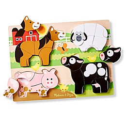 Melissa & Doug® 20-Piece Farm Animals Chunky Jigsaw Puzzle