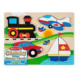 Melissa & Doug® 20-Piece Vehicles Chunky Jigsaw Puzzle