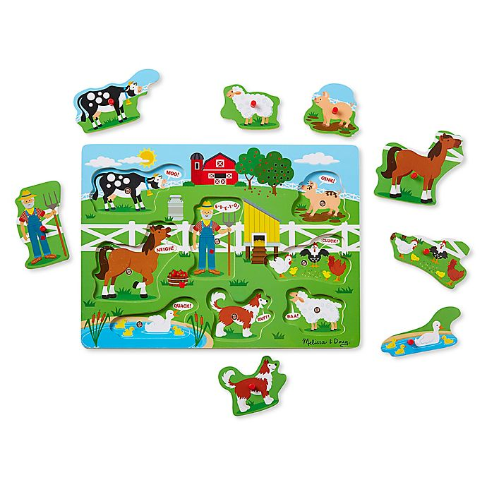Alternate image 1 for Melissa & Doug™ 8-Piece Old MacDonald's Farm Sound Puzzle