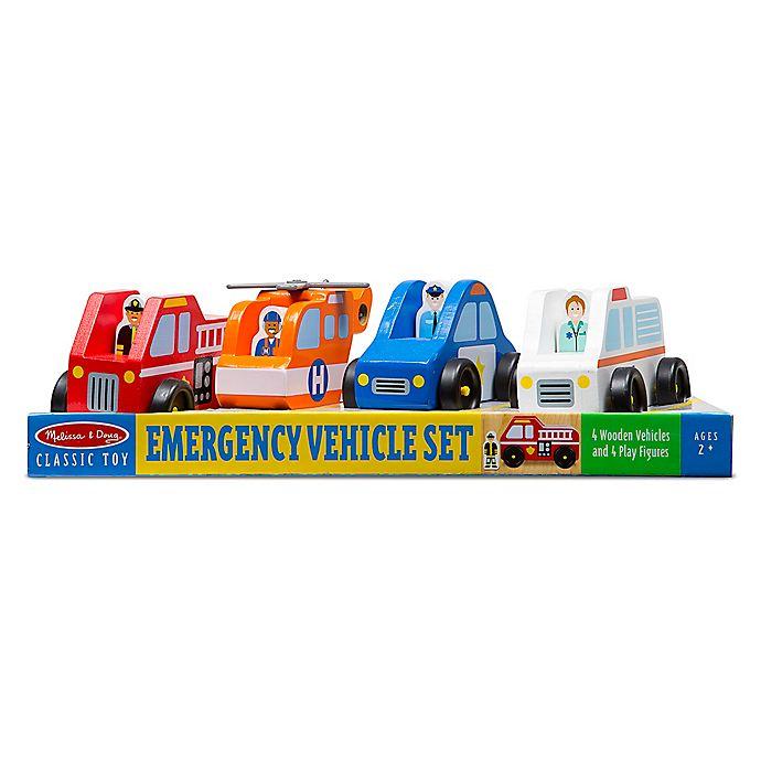 Alternate image 1 for Melissa & Doug® Emergency Vehicle Set