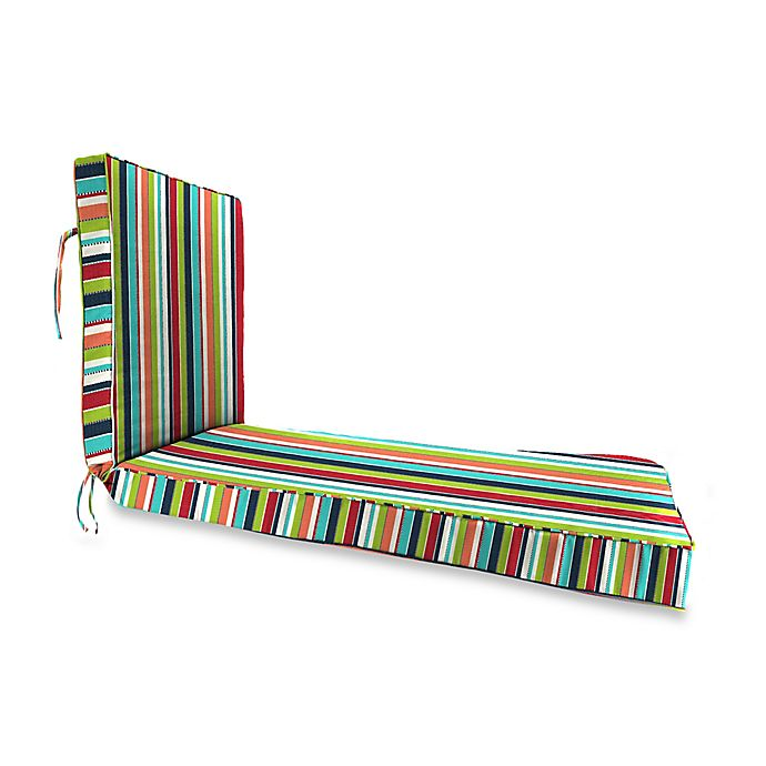 Stripe 80 Inch X 23 Inch Chaise Lounge Cushion In Sunbrella Canvas
