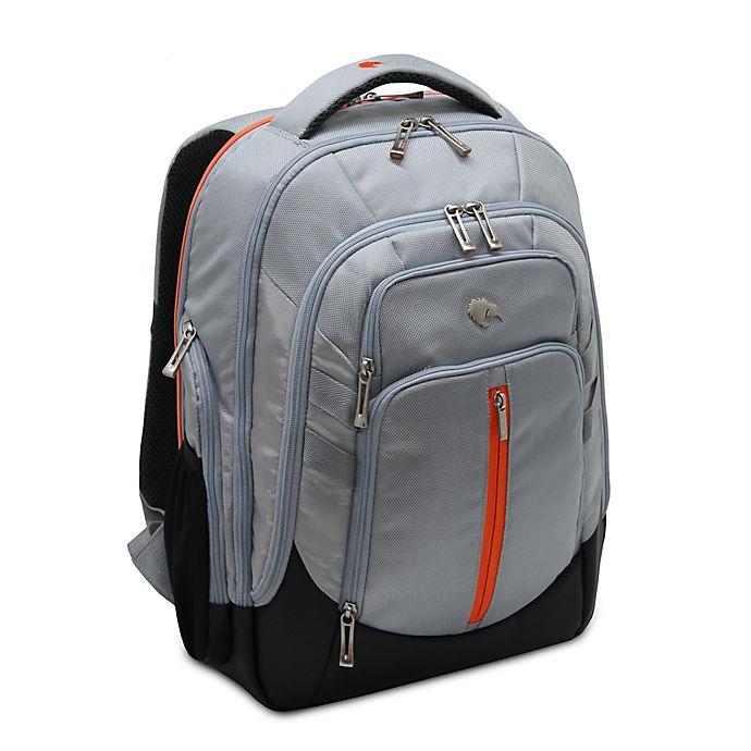 Alternate image 1 for Bluekiwi™ Hapu Universal Diaper Backpack in Grey/Orange