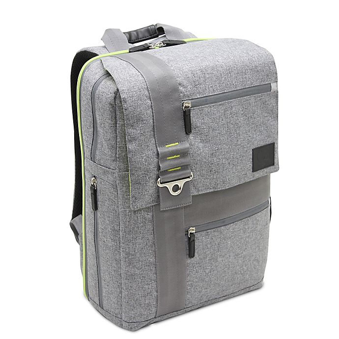 Alternate image 1 for Bluekiwi™ Papara Universal Diaper Backpack in Grey/Green