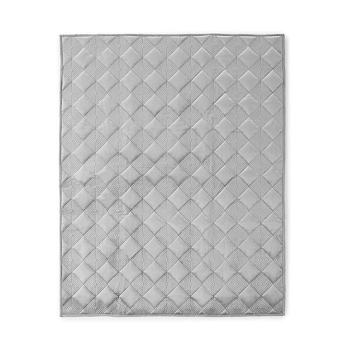 Alternate image 1 for Levtex Baby® Heritage Velvet Quilt in Grey