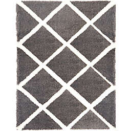 Home Dynamix Oxford 7-Foot 10-Inch x 10-Foot 2-Inch Oxford Shag Area Rug in Dark Grey