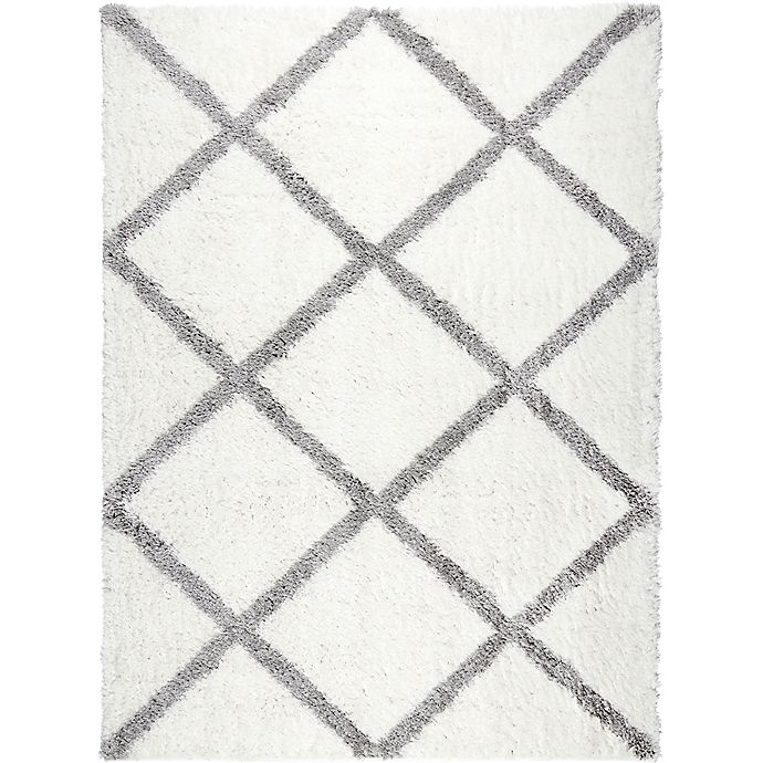 Alternate image 1 for Home Dynamix Oxford 3-Foot 9-Inch x 5-Foot 9-Inch Oxford Shag Area Rug in Ivory