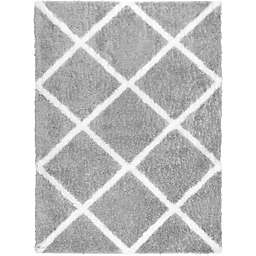 Home Dynamix Oxford 3'9 x 5'9 Shag Area Rug in Grey