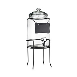 Del Sol 6-Quart Beverage Jug with Chalkboard and Stand