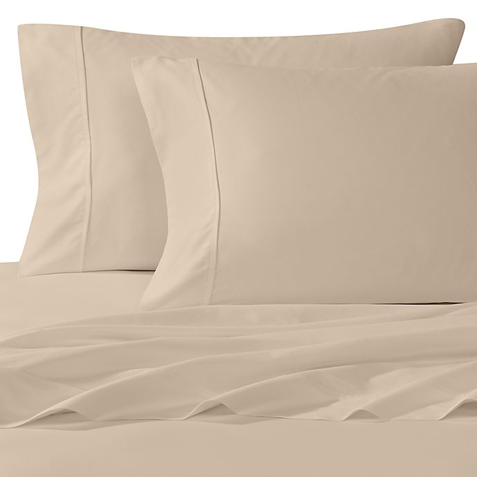 Alternate image 1 for Wamsutta® 400-Thread-Count King Pillowcases in Taupe (Set of 2)
