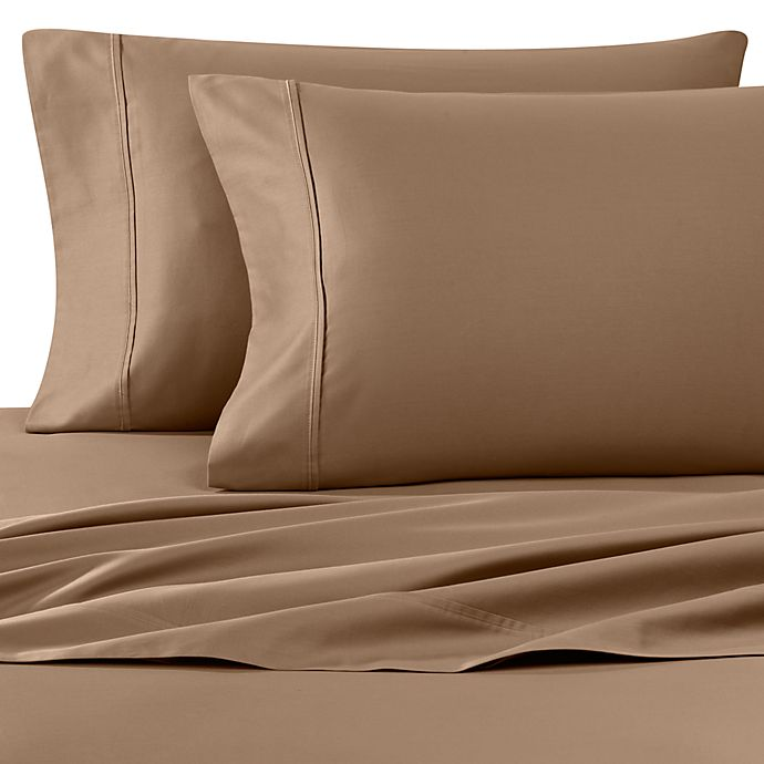 Alternate image 1 for Wamsutta® 400-Thread-Count King Pillowcases in Canvas (Set of 2)