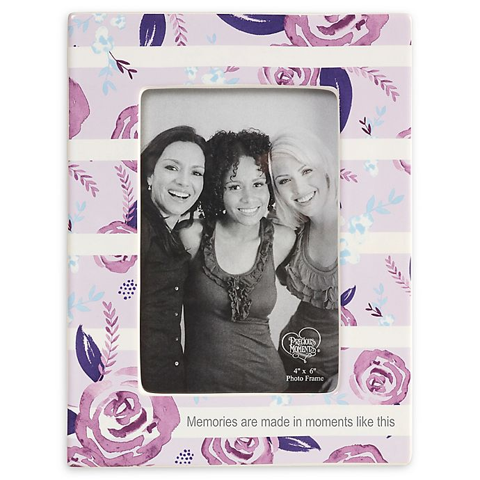 Alternate image 1 for Precious Moments® Floral 4-Inch x 6-Inch Picture Frame