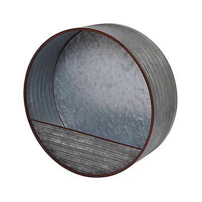 Gerson® Galvanized Metal Wall Planter in Silver