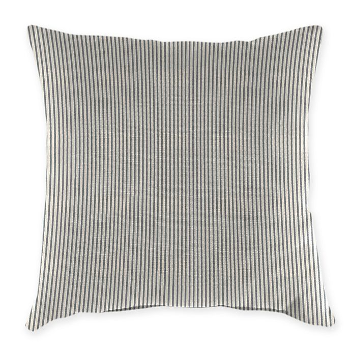 Alternate image 1 for Jordan Manufacturing Striped 18-Inch x 12-Inch Oblong Indoor/Outdoor Throw Pillow