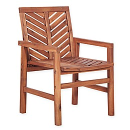 Forest Gate Olive Acacia Wood Outdoor Chair (Set of 2)