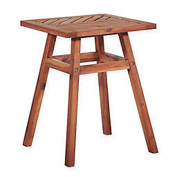 Forest Gate Olive Acacia Outdoor Side End Table