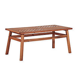 Forest Gate Chevron 42-Inch x 12-Inch Acacia Wood Patio Coffee Table