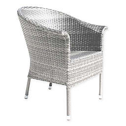 Athens Woven Patio Armchair in White Wash