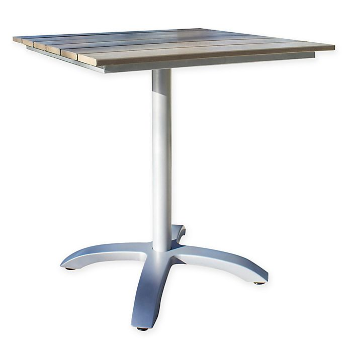 Alternate image 1 for Athens Slatted 28-Inch Square Patio Table in White Wash