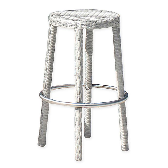 Alternate image 1 for Athens Stackable Bar Stool in White Wash