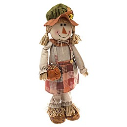 30-Inch Indoor/Outdoor Standing Scarecrow Girl Figure