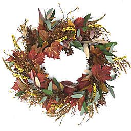 22-Inch Multicolor Leaf Harvest Wreath