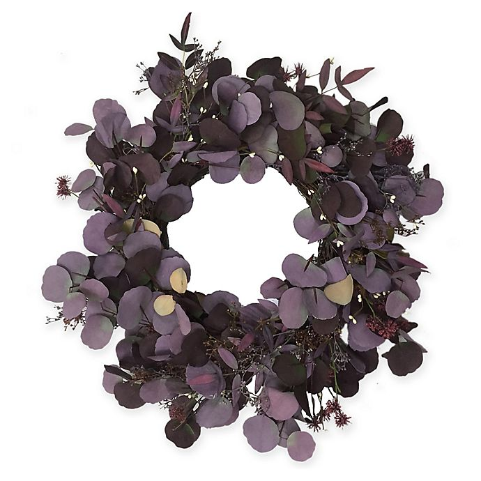 Alternate image 1 for Bee & Willow™ Home 24-Inch Floral Harvest Wreath in Purple