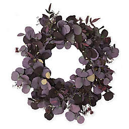 Bee & Willow™ Home 24-Inch Floral Harvest Wreath in Purple