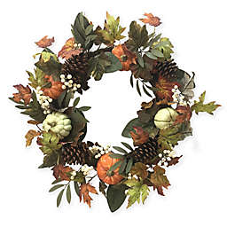 Bee & Willow™ Home 24-Inch Fall Floral Harvest Wreath