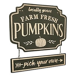 Pumpkin Patch Embossed Metal Sign