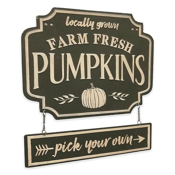 Alternate image 1 for Pumpkin Patch Embossed Metal Sign