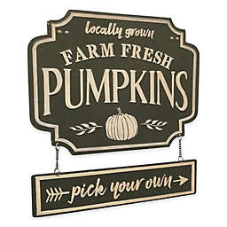 Pumpkin Patch Embossed Metal Sign