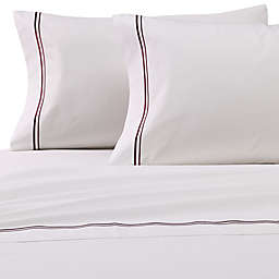 Frette At Home Piave Standard/Queen Pillowcase in White/Grey