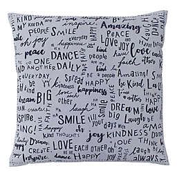 ED Ellen DeGeneres Vicente Words Throw Pillow in Grey