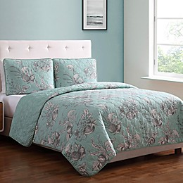 MHF Home Simone Reversible Quilt Set in Seafoam Green