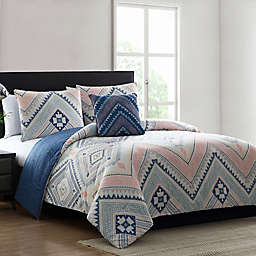 MHF Home Sarah Reversible Comforter Set