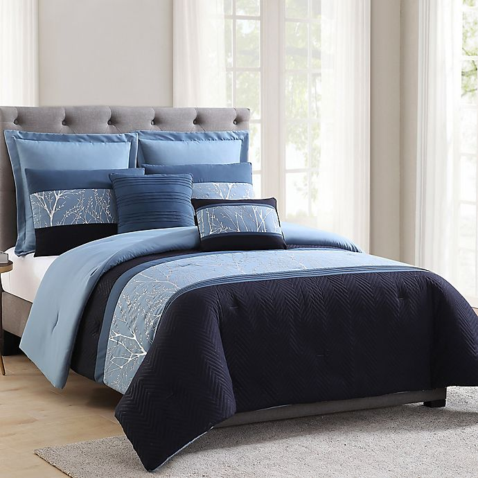 Alternate image 1 for MHF Home Madison King Comforter Set in Blue