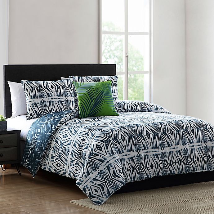 Alternate image 1 for MHF Home Paxton Geometric Full/Queen Comforter Set in Blue