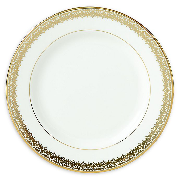 Alternate image 1 for Lenox® Lace Couture Gold™ Bread Plate