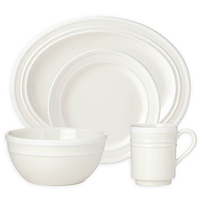 Alternate image 1 for kate spade new york All in Good Taste Sculpted Stripe™ Cream Dinnerware Collection