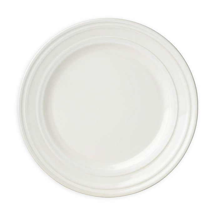 Alternate image 1 for kate spade new york All in Good Taste Sculpted Stripe™ Cream Accent Plates (Set of 4)