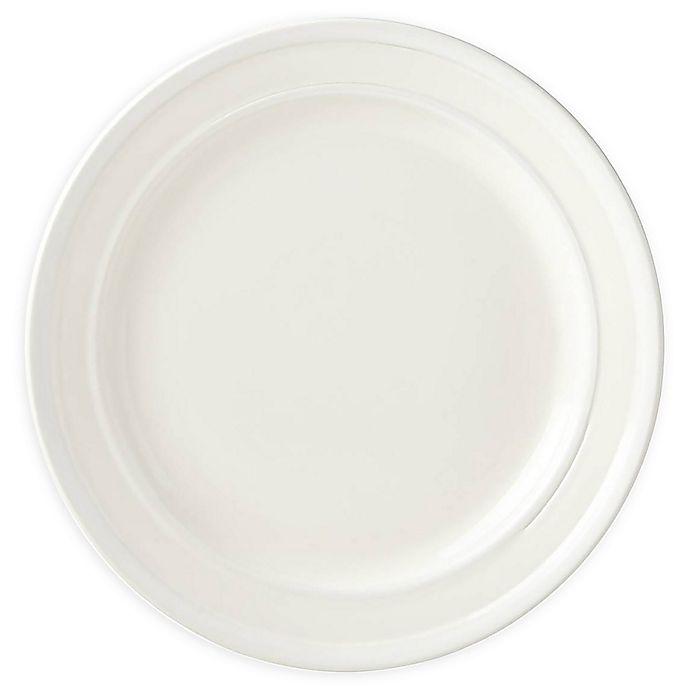 Alternate image 1 for kate spade new york All in Good Taste Sculpted Stripe™ Cream Dinner Plates (Set of 4)