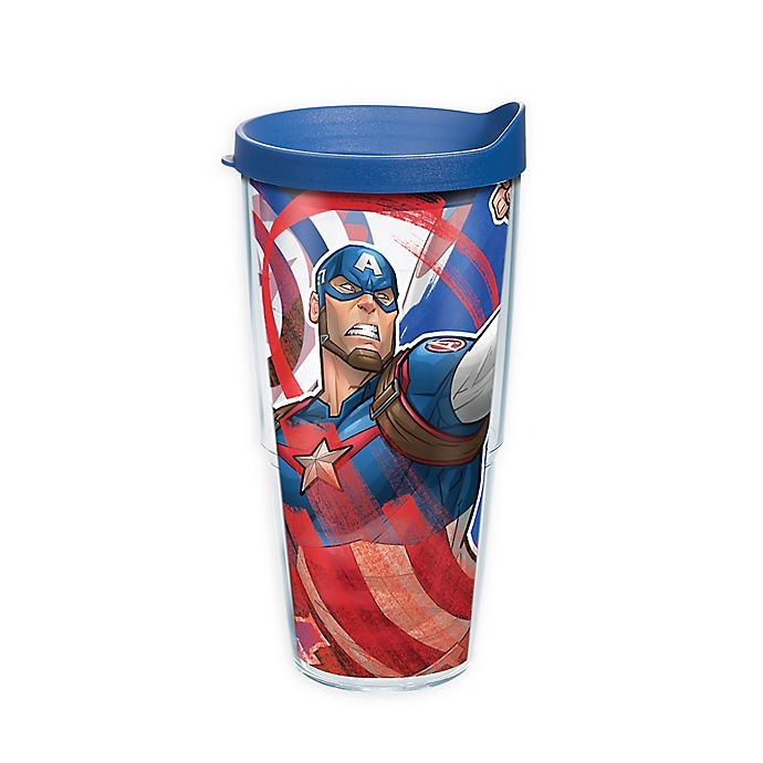 Alternate image 1 for Tervis® Marvel® Captain America Iconic Wrap Tumbler with Lid