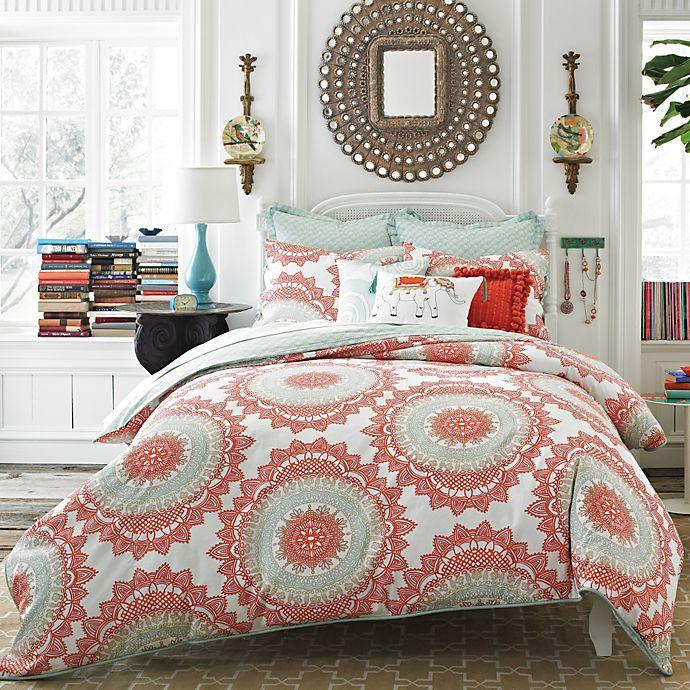 Alternate image 1 for Anthology™ Bungalow Reversible Comforter Set in Coral