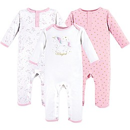 Hudson Baby® 3-Pack Magical Unicorn Union Suits in Pink